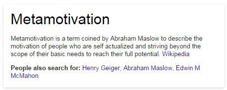 Increase Motivation metamotivation